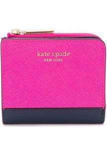 Kate Spade Carteira Dobrável Spencer Pequena - Rosa