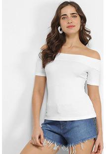 Blusa Colcci Ombro A Ombro Canelada Feminina - Feminino