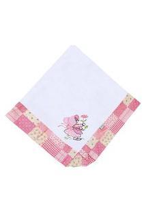 Manta Enxoval Piquet Padroeira Baby Camponesa Rosa