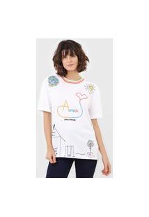 Camiseta Lança Perfume Amor Branca