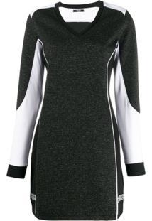 Liu Jo Contrasting Glittery Dress - Preto