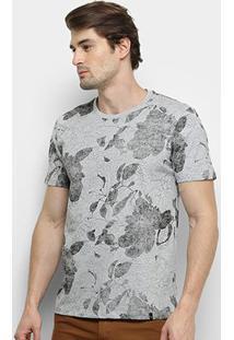 Camiseta All Free Floral Design Masculina - Masculino-Mescla