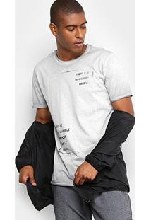 Camiseta Forum Estonada Masculina - Masculino-Cinza