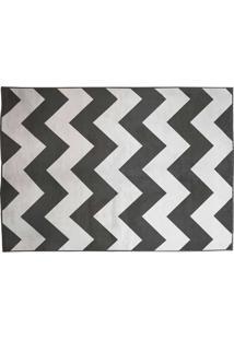 Tapete Belga Geometric Desenho 07 0.67X2.10 - Edantex - Preto / Branco