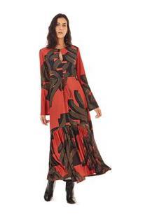 7d8bdb765 Morena Rosa. Vestido Midi Decote Redondo Com Babado ...
