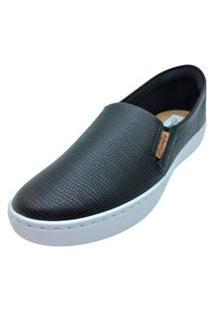 Slipper Confort Croco Dani K 02851 Preto