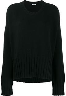 P.A.R.O.S.H. Suéter Com Detalhe Canelado - Preto