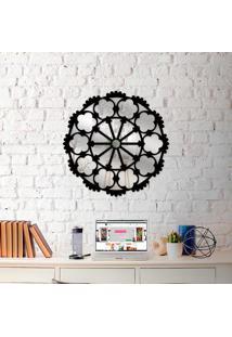 Escultura De Parede Wevans Mandala Perfect+ Espelho Decorativo