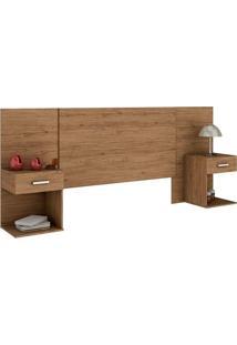 Cabeceira Calenda Com Mesa De Cabeceira Casal - Henn - Rustico