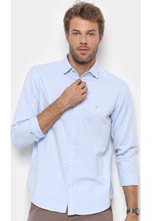 Camisa Foxton Manga Longa Básica Oxford Masculina - Masculino