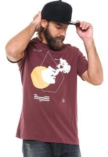 Camiseta Volcom Float Vinho