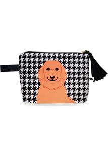Clutch Nita Faco Golden Retriever Preto E Branco