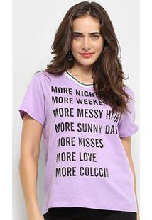 Camiseta Colcci More Happiness Feminina - Feminino