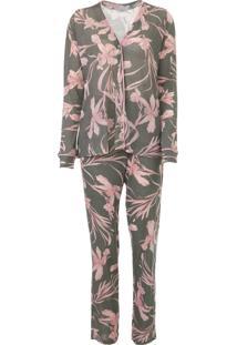 Pijama Cor Com Amor Floral Verde