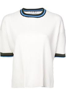 Proenza Schouler Blusa De Tricô Canelada - Branco