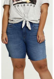 Bermuda Feminina Jeans Bolsos Plus Size Marisa