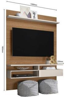 Painel Home Para Tv Até 60 Polegadas Sírius Colibri Natura Real / Off White
