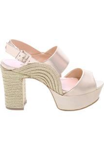 Kim Sandália Curve Block Heel Platina | Schutz