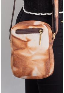 Bolsa Shoulder Bag De Couro Pietra - Marrom Mescla - Marrom - Feminino - Dafiti