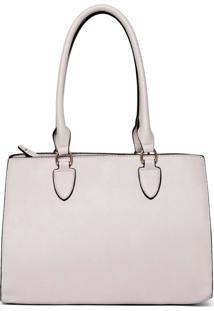 Bolsa Handbag Feminina Ombro Alça Dupla Fixa Lisa Casual