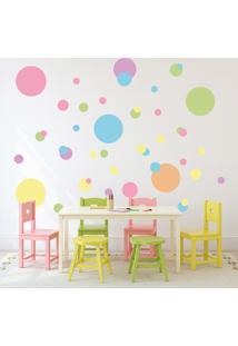 Adesivo De Parede Infantil Quartinhos Bola Colorido