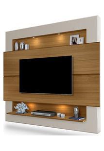 Painel Home Suspenso Para Tv Até 60 Pol. Riviera Carvalho/Off White -