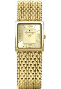 Relógio Analógico Jv00114- Dourado- Jean Vernierjean Vernier