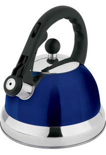 Chaleira Hauskraft Com Apito 2,5 L Azul