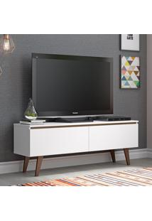 Rack Para Tv 2 Portas Com Pés Lima Branco/Rustic - Madesa