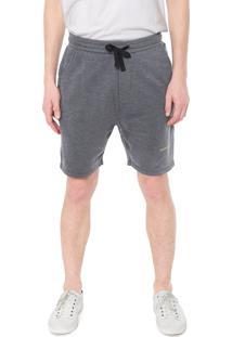 Bermuda Calvin Klein Jeans Spreay Corroção Cinza