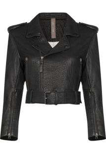 Lot Lthr Lola Leather Biker Jacket - Preto