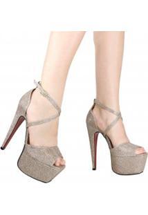 Sandalia Zariff Shoes Meia Pata Brilho