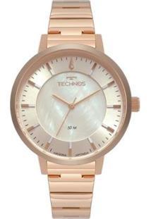 Relógio Technos Feminino Trend 2033Cr/4B - Feminino-Rosa