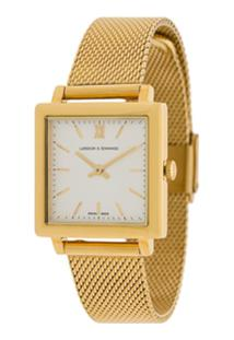 80fb85be303 ... Larsson   Jennings Relógio Quadrado - Dourado