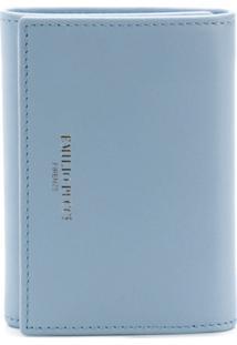 Emilio Pucci Carteira Slim Com Logo De Couro - Azul