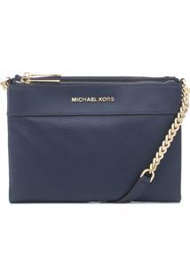 Bolsa Michael Kors Kenly Lg Pocket Azul Marinho