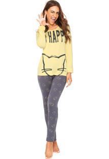 Pijama Any Any So Happy Amarelo