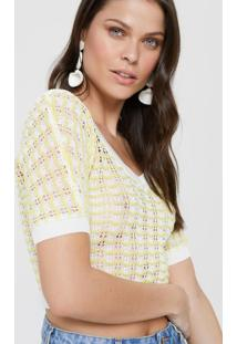 Blusa Cropped Textura Ondas