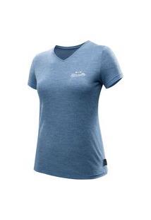 Camiseta Feminina De Trekking De Lã Merino Travel 100