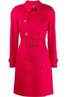 Burberry Trench Coat De Gabardine - Vermelho