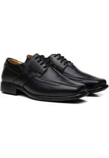 Sapato Conforto Couro Youth Class Belucci Masculino - Masculino-Preto