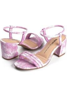 Sandália Dakota Tie Dye Feminina - Feminino-Rosa