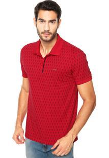 Camisa Polo Sommer Mini Geo Vermelha
