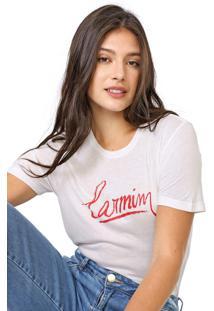 Camiseta Carmim Lipstick Off-White