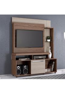 Estante Home Para Tv Com 1 Porta Cancun Belaflex Malte/Carvalho Viena