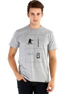 Camiseta Ouroboros Manga Curta Magic Objects - Masculino-Cinza