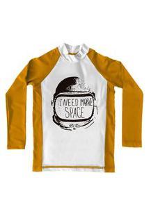 Camiseta De Lycra Comfy More Space Amarela