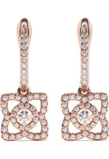 De Beers Par De Brincos 'Enchanted Lotus Sleeper' De Ouro Rosê 18K Com Diamantes - Rose Gold
