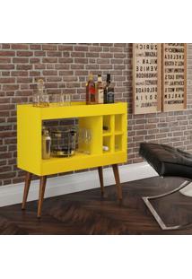 Aparador Bar Com Adega Coffee Break - Amarelo - Rpm Mã³Veis - Incolor - Dafiti