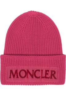 Moncler Gorro Com Logo - Rosa